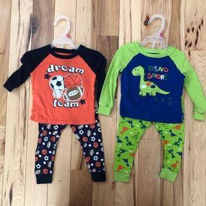 2 pairs of pajamas 18m